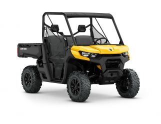 POWERSPORTS CANAM ORV_IMAGERY DEFENDER MY21 MY21-Can-Am-Defender-DPS-HD10HO-Yellow-34Front-INTL