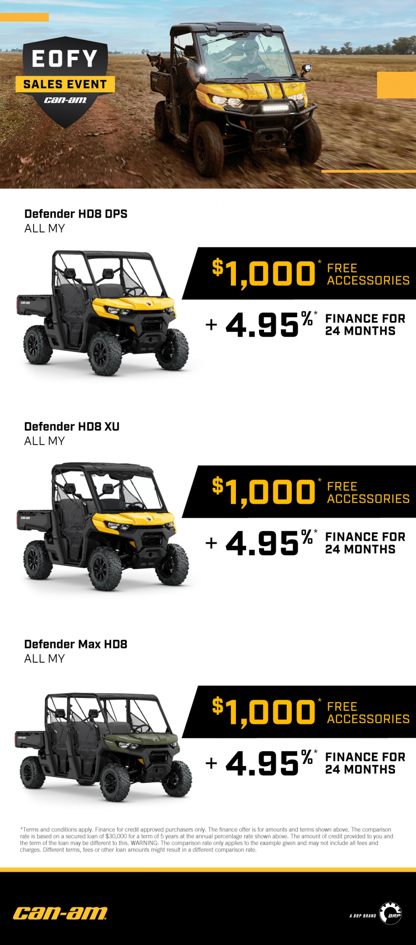 POWERSPORTS CANAM PROMOTIONS 2021 EOFY-MAY1-JULY 991