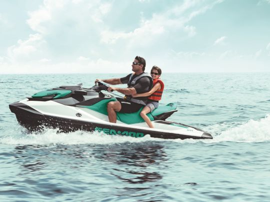 WATERSPORTS SEA-DOO_IMAGERY RECREATION MY20_GTI_90_FatherSonRiding_10_100919142144_lowres