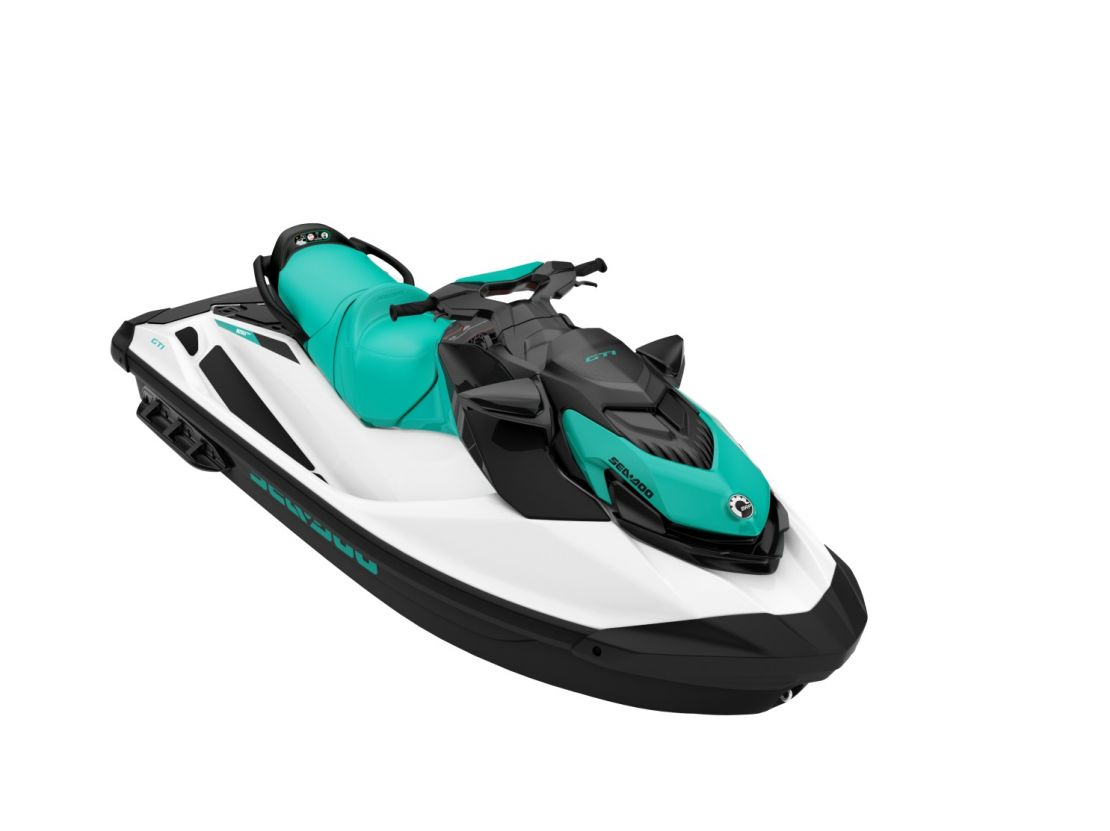 WATERSPORTS SEA-DOO_IMAGERY RECREATION MY20_GTI_90_Reef_Blue_3_4_fron_100919152336_lowres