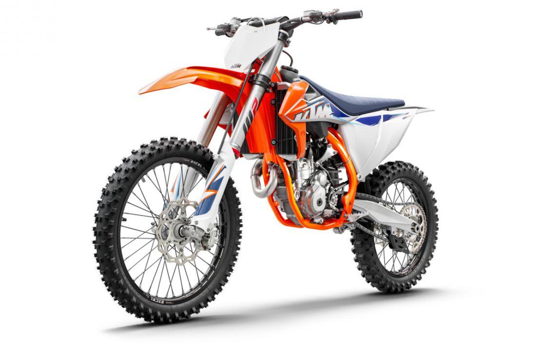 MOTORCYCLES KTM MOTOCROSS MY22 377772_350SX-FMY22Front-left
