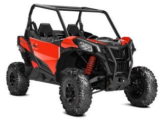 POWERSPORTS CANAM ORV_IMAGERY MAVERICK MY21 sport 2019-Maverick-Sport-DPS-1000-Can-Am-Red_3-4-front